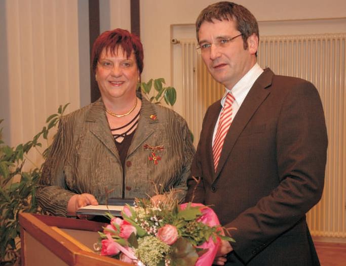 Verleihung des Bundesverdienstkreuzes an Jutta Fischer
