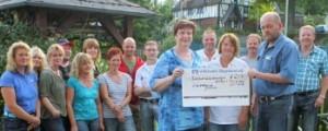 5. Heisberger Dorfweiherfest, Foto der Scheckübergabe: Kai Osthoff