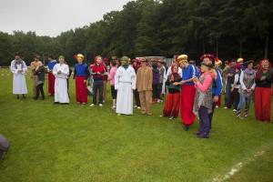 Schön anzusehen, die vielen bunten orientalischen Kostüme. Foto: Wolfgang Tischler