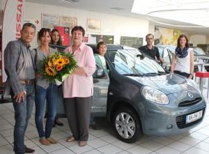 Übergabe des Hauptpreises: Autohaus Siegel und Kinderkrebshilfe überreichen Nissan Micra, Fotos: Rewa/Ariwa