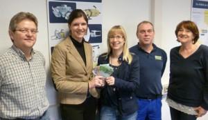 NIMAK: Belegschaft spendet Kinderkrebshilfe 1.000 Euro