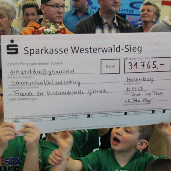 REWE-Cup 2017 - Spendenaktion für die Kinderkrebshilfe Gieleroth e.V.